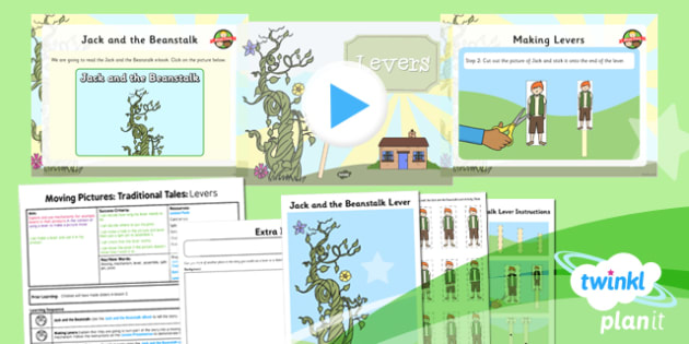 PlanIt - Design and Technology KS1 - Moving Pictures: Traditional Tales Lesson 3: Levers