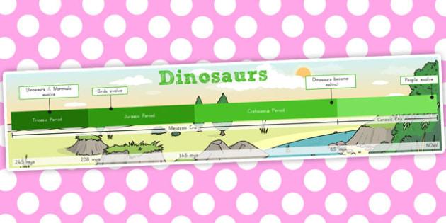 Simple Dinosaur Timeline - australia, dinosaur, timeline, time