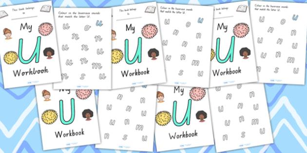 My Workbook U Uppercase - letter formation, fine motor skills