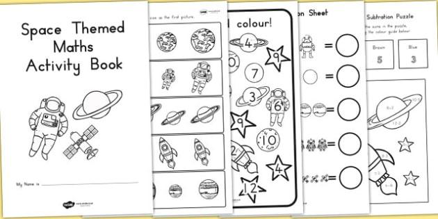 Space Themed KS1 Maths Activity Book - australia, ks1, maths