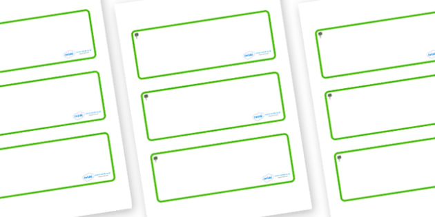 Bay Tree Themed Editable Drawer-Peg-Name Labels (Blank) - Themed Classroom Label Templates, Resource Labels, Name Labels, Editable Labels, Drawer Labels, Coat Peg Labels, Peg Label, KS1 Labels, Foundation Labels, Foundation Stage Labels, Teaching Lab