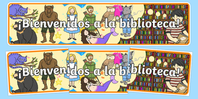 Welcome to the Library Display Banner-Spanish