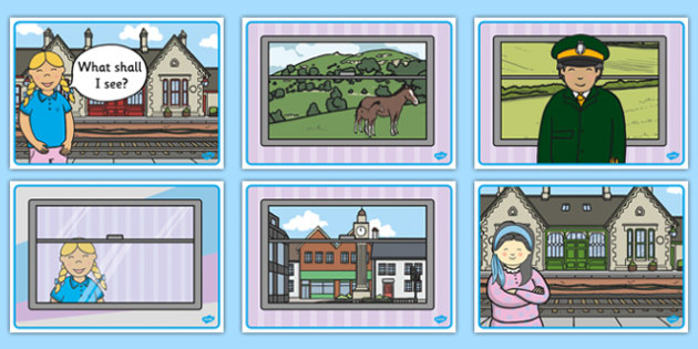 The Train Ride Story Sequencing - The Train Ride, June Crebbin, journey, transport, resources, rhyme, rhythm, tractor, story, story book, story book resources, story sequencing, story resources, sequencing