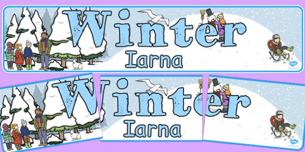Winter Display Banner EAL Romanian Translation - romanian, winter