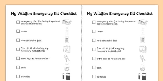 Alberta's Wildfire Wildfire Emergency Kit Checklist - canada, Alberta, wildfire, fire, natural disaster, communication, speaking, discussion