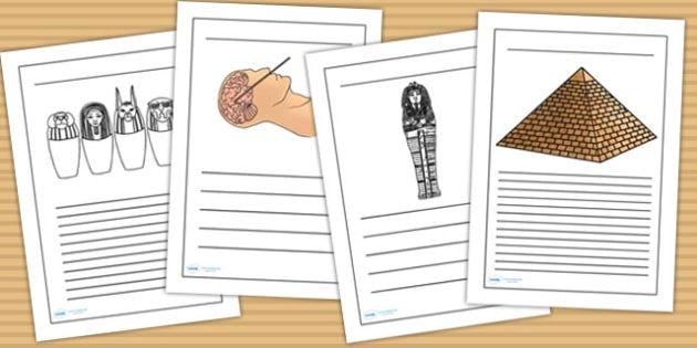 Egyptian Mummification Writing Frames - egypt, ancient egypt