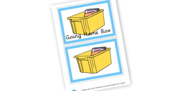 Going Home Box - display lettering - Classroom Signs & Label Primary Resources, labels, posters, rules