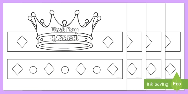 Start and End of Year Grade Crowns Activit