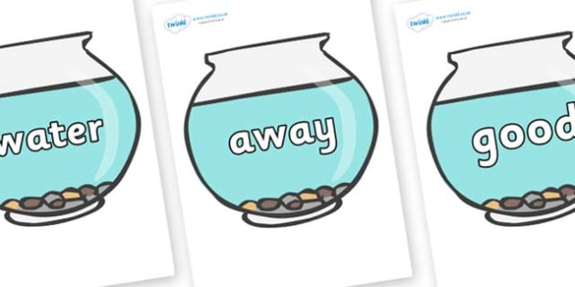 Next 200 Common Words on Fish Bowls - Next 200 Common Words on  - DfES Letters and Sounds, Letters and Sounds, Letters and sounds words, Common words, 200 common words