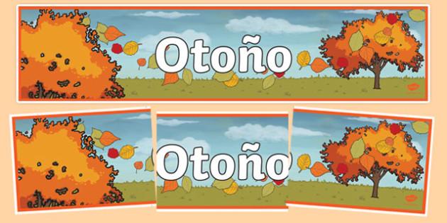 Pancarta otoño