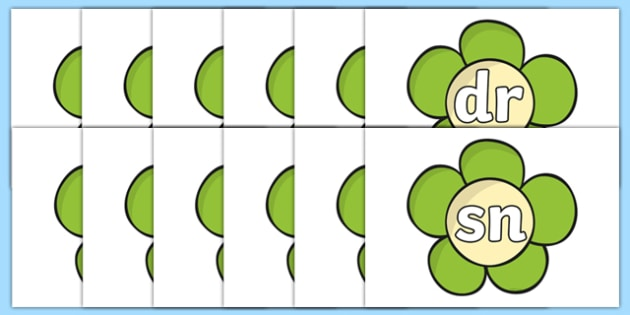 Phase 4 Blends and Clusters on Green Flowers - phase four, phase 4, blends and clusters, green flowers