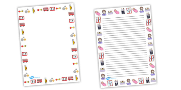 The Wheels on the Bus Page Border - The Wheels on the Bus, nursery rhyme, Literacy, writing, page border, a4 border, template, writing aid, writing border, page template, rhyme, rhyming, nursery rhyme story, nursery rhymes, transport, bus, Wheels on,