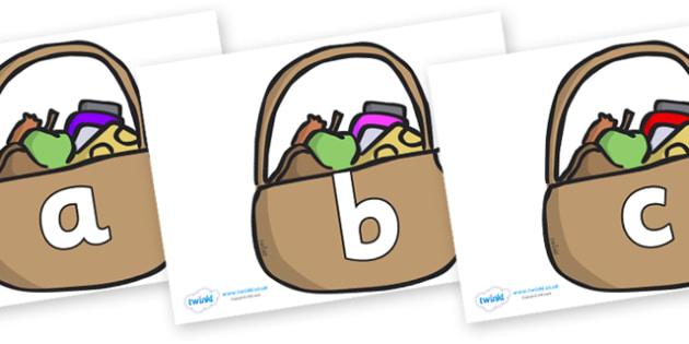 Phoneme Set on Baskets - Phoneme set, phonemes, phoneme, Letters and Sounds, DfES, display, Phase 1, Phase 2, Phase 3, Phase 5, Foundation, Literacy