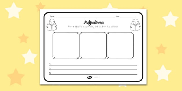 Adjectives Comprehension Worksheet - australia, comprehension