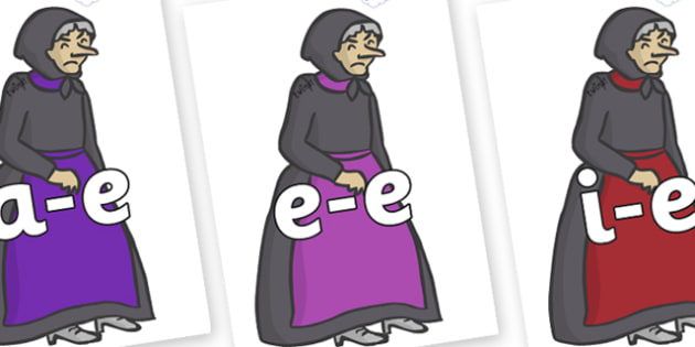 Modifying E Letters on Witches - Modifying E, letters, modify, Phase 5, Phase five, alternative spellings for phonemes, DfES letters and Sounds