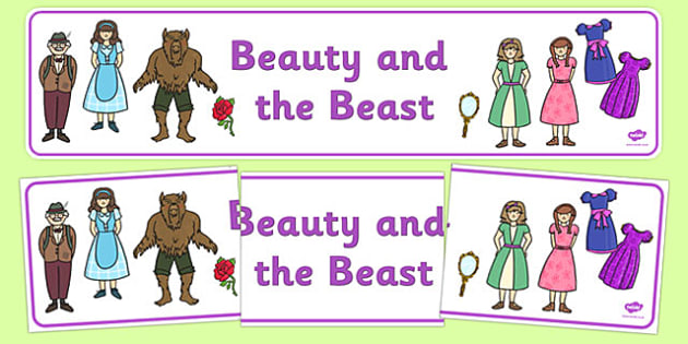 Beauty and the Beast Display Banner - traditional tales, books