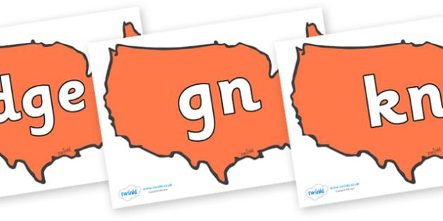 Silent Letters on USA - Silent Letters, silent letter, letter blend, consonant, consonants, digraph, trigraph, A-Z letters, literacy, alphabet, letters, alternative sounds