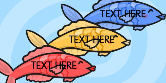Editable Fish - edit, visual, displays, display, posters, poster