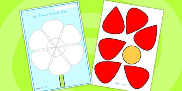 Flower Petal Reward Chart - flower, petal, reward, award, display