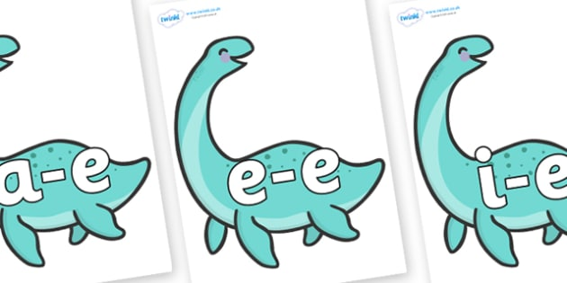 Modifying E Letters on Pleseosaur Dinosaurs - Modifying E, letters, modify, Phase 5, Phase five, alternative spellings for phonemes, DfES letters and Sounds