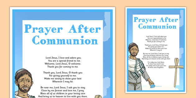 Prayer After Communion Display Poster - irish, gaeilge, prayer, after, communion, display poster, display, poster