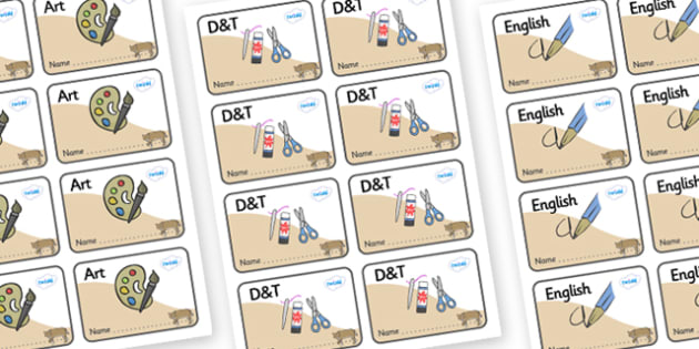 Bobcat Themed Editable Book Labels - Themed Book label, label, subject labels, exercise book, workbook labels, textbook labels
