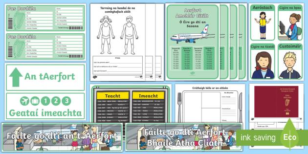 An tAerfort Aistear Pack Display Pack - Aistear Resources Pack,Irish