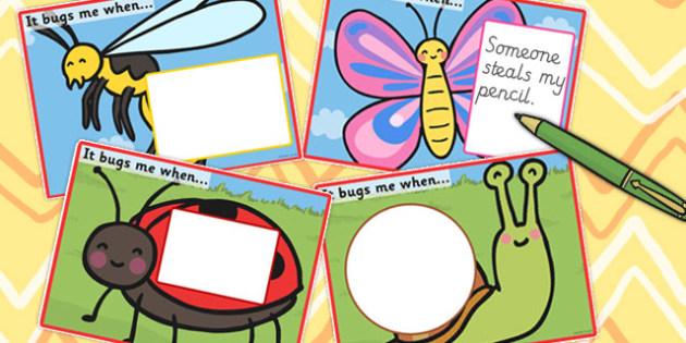 It Bugs Me When Writing Frames - Bugs, Irritates, Me, When, Aggravate, Irritate