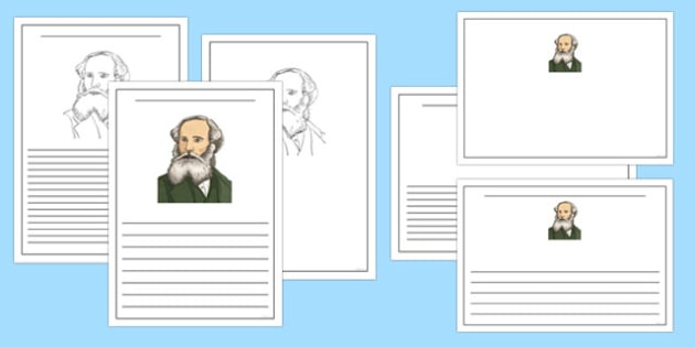 Scottish Significant Individuals James Clerk Maxwell Writing Frame - CfE, significant individuals, science, maths, engineering, electromagnetic radiation