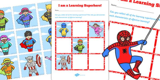 Learning Superheroes Chart - learning, superheroes, chart, learn