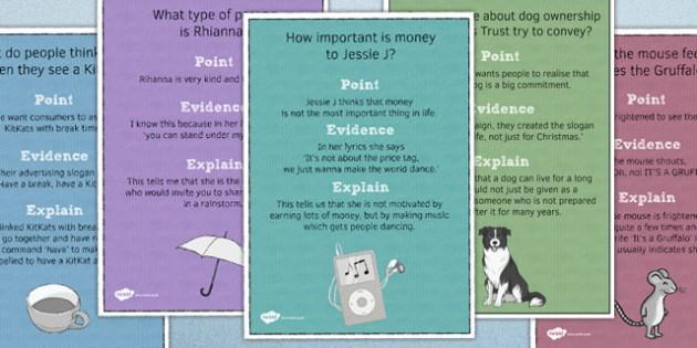 Point Evidence Explain Poster Pack - point, evidence, explain, poster, display, classroom, ks3