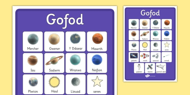 Space Vocabulary Poster Welsh Translation - gofod, vocab, display