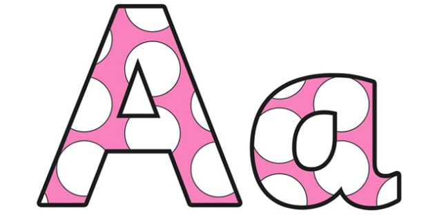 Polka Dots Lowercase Display Lettering - letters, displays, spots