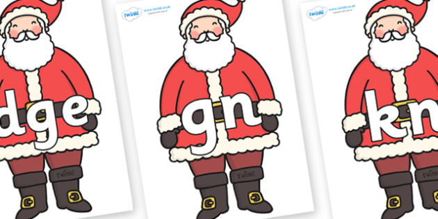 Silent Letters on Father Christmas - Silent Letters, silent letter, letter blend, consonant, consonants, digraph, trigraph, A-Z letters, literacy, alphabet, letters, alternative sounds