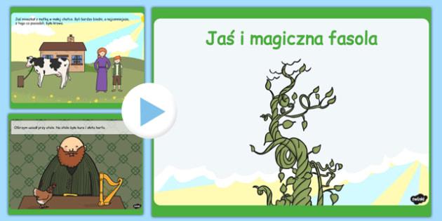 Prezentacja PowerPoint Jaś i magiczna fasola po polsku