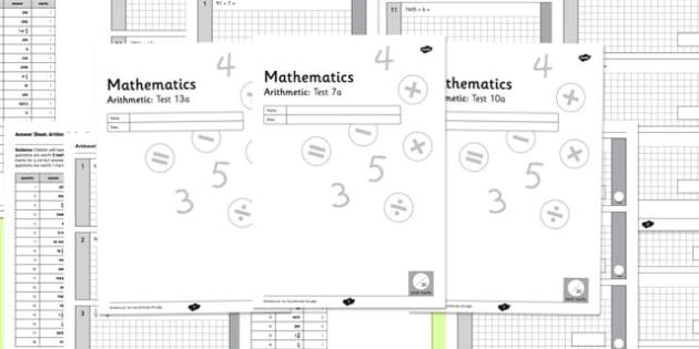 Key Stage 2 Arithmetic Half Practice Tests - arithmetic, tests, arthimetic