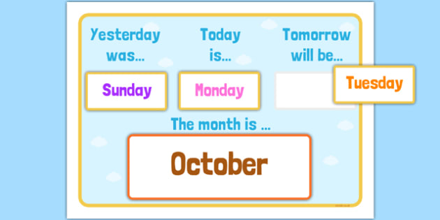 Yesterday, Today, Tomorrow Calendar - yesterday, today, tomorrow, calendar