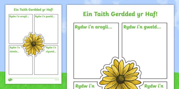 Ein Taith Gerdded yr Haf Activity Sheet-Welsh, worksheet