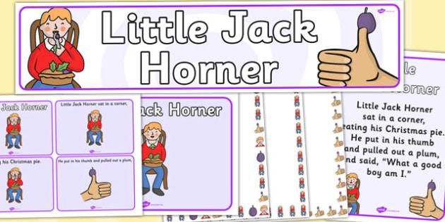 Little Jack Horner Resource Pack - little jack horner, resource pack, pack of resources, themed resource pack, little jack horner pack, nursery rhymes