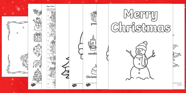 Top Ten Christmas Colouring Sheets Pack