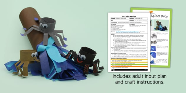 Incy Wincy Spider Craft EYFS Adult Input Plan and Resource Pack - pack