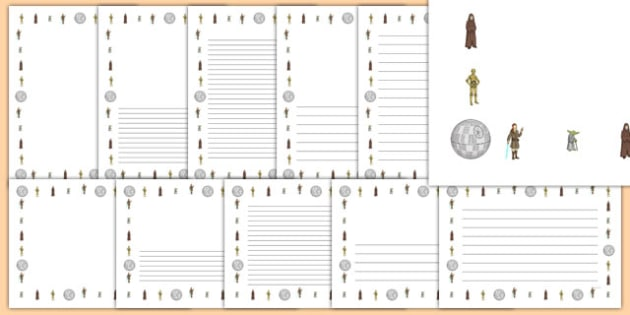 Space Wars Themed Page Borders Pack - space wars, star wars, page borders, pack