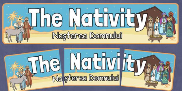 Nativity Display Banner Romanian Translation - romanian, nativity, display banner, christmas, display, banner