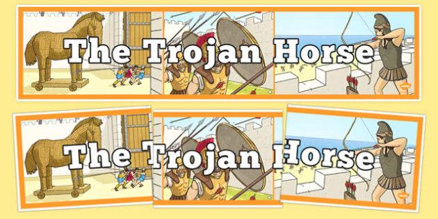The Trojan Horse Display Banner - the trojan horse, display banner, display, banner, trojan, horse, history