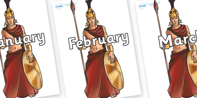 Months of the Year on Ares - Months of the Year, Months poster, Months display, display, poster, frieze, Months, month, January, February, March, April, May, June, July, August, September