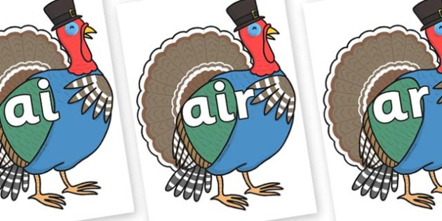 Phase 3 Phonemes on Turkey Lurky - Phonemes, phoneme, Phase 3, Phase three, Foundation, Literacy, Letters and Sounds, DfES, display