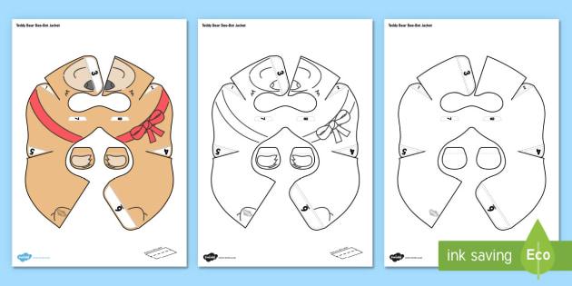 Teddy Bear Bee-Bot Jacket - EYFS, Early Years, Toys, teddy bears, teddies, programmable toys, ICT, programming, computing, techn