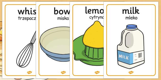 Pancake Day Recipe Posters Polish Translation - polish translate