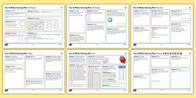 Year 6 Summer 2  Maths Activity Mats