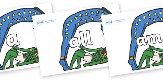 Foundation Stage 2 Keywords on Egyptian Characters - FS2, CLL, keywords, Communication language and literacy,  Display, Key words, high frequency words, foundation stage literacy, DfES Letters and Sounds, Letters and Sounds, spelling